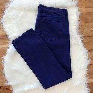 J.CREW Ankle Cut Semi Stretch Blue Purple Jeans
